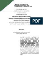 Inscrição da Proposta - Edital