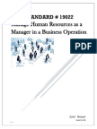 Manage Human Resources as a Manager in a Business Operation