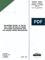 Relation entre types de sol et cultures sur les Hautes terres Malgaches
