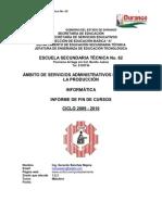 33777029 Informe de Actividades de Fin de Curso Informatica 2009 2010