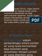 Irigasi - 4 (Efisiensi Irigasi)