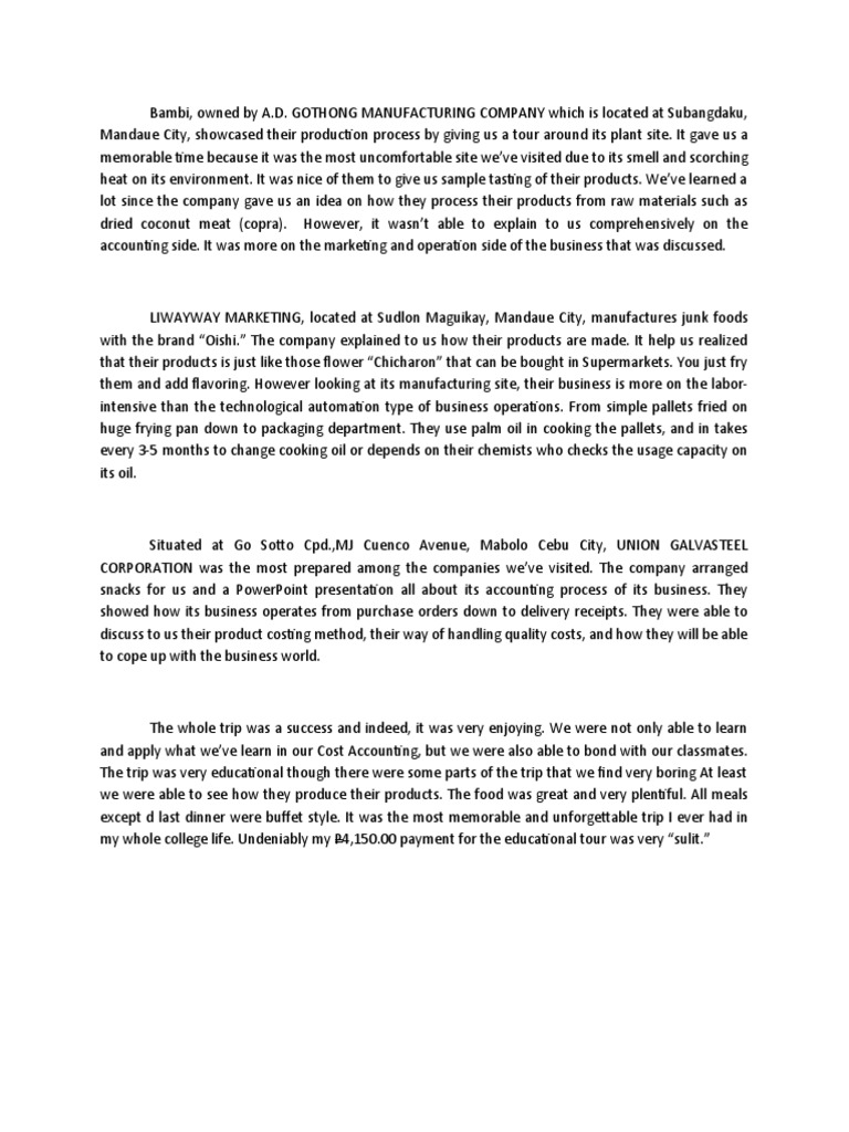 reaction paper sample for field trip Organizing your social sciences research paper: writing a field report  [the time that elapses between a stimulus and the response to it] this is a very demanding.