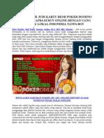 Situs Bandar Judi Poker Domino Online BCA BNI BRI Mandiri