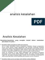 analisis kesalahan