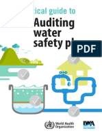Auditing water safety plans