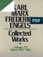 Marx Engels Collected Works Volume 29 m Karl Marx