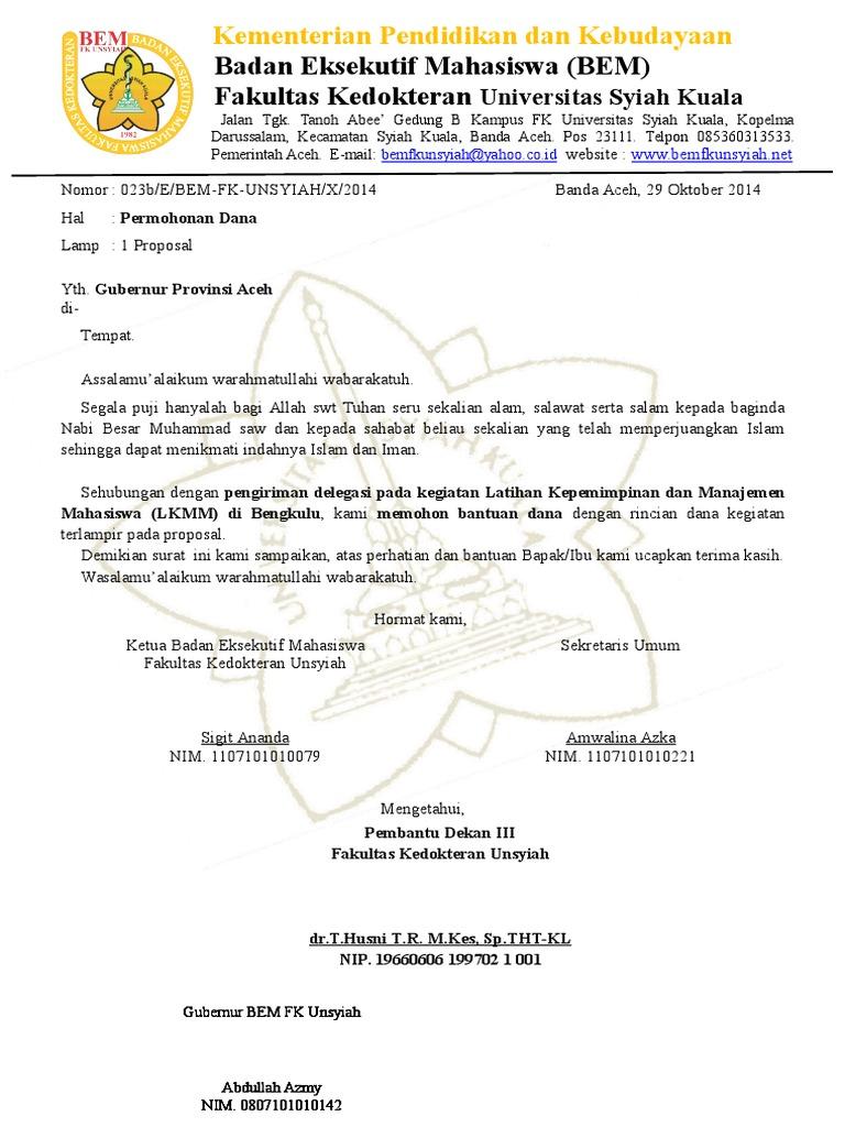 surat pemberitahuan acara dan undangan donor darah