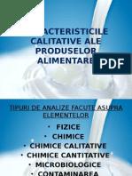 Caracteristicile Calitative Ale Produselor Alimentare