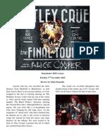 Motely Crue & Alice Cooper - Concert Review