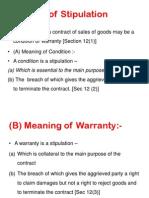 Warrant under sales of goods act