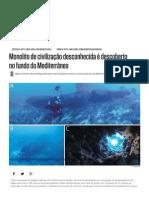 Monolito de Civilização Desconhecida é Descoberto No Fundo Do Mediterrâneo _ INFO
