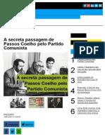 A Secreta Passagem de Passos Coelho Pelo Partido Comunista