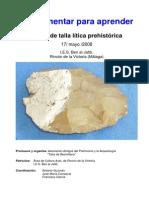Tipologías y Funcionalidad de Los Útiles Líticos. Paleolítico Inferior y Medio