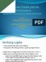 3. Gerbang Logika Dan Aljabar Boolean