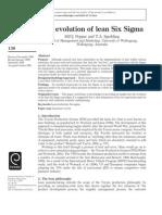 La Evolucion Lean Six Sigma (1)
