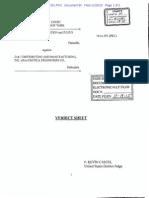 Car-Freshner v. D & J - Verdict