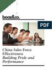 BoozCo China Sales Force Effectiveness