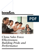 BoozCo China Sales Force Effectiveness