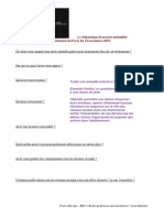 Questionnaire Attentats Paris 2015