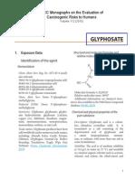 Glyphosate Iarc Monographs