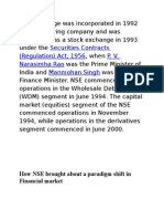 Nse national stock exchange