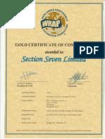 _WRAP Certificate Original -2015