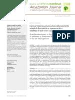 Semivariograma escalonado no planejamento  amostral da resistência à penetração e  umidade de solo com cana-de-açúcar