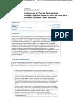 Guía para la formulación de un Plan de Contingencias Informáticas