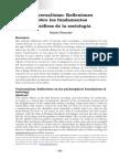 """""""Universalismo e Sociologia Reflexiones Sobre Los Fundamentos Filosóficos de La Sociología"""
