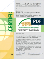 Oeko Tex Certificate