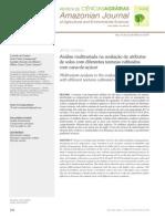 Análise multivariada na avaliação de atributos  de solos com diferentes texturas cultivados  com cana-de-açúcar