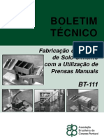 BT-111 - Fabricação de Tijolos de Solo-Cimento com a Utilização de Prensas Manuais