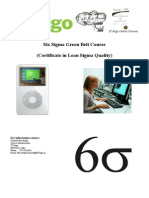 Six Sigma Green Belt Information Brochure