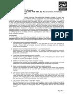 Cost Volume Profit (Cvp) Analysis