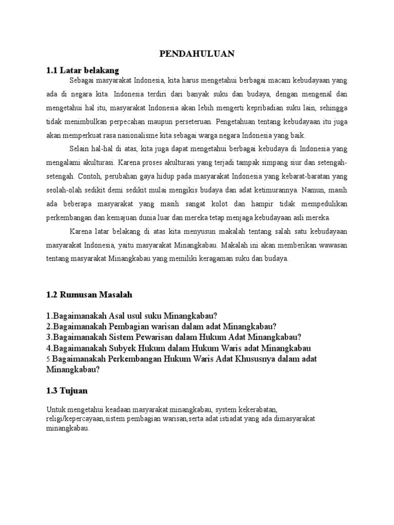 Makalah Hukum Adat Minangkabau