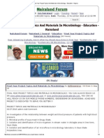 Final Year Project Topics and Materials in Microbiology - Education - Nigeria