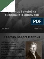 Malthus i ekološka ekonomija o održivosti