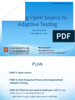 Applying Open Source to Adaptive Testing