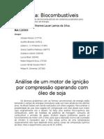 Análise de Um Motor de Ignição Por Compressão Operando Com Óleo de Soja