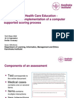 Assessement in Health Care Education