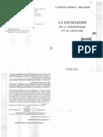 KERBRAT ORECCHIONI - La Subjetividad en El Lenguaje.