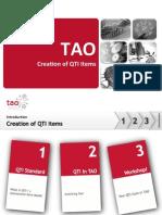 Creation of QTI Items
