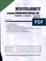 FIITJEE Full Test 1  NTSE Stage-2