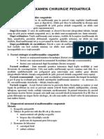Subiecte Examen Chirurgie Pediatrica - Rezolvare