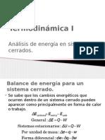 Análisis General de Energía SISTEMAS CERRADOS