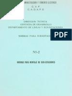 Norma CADAFE NS-20001 Montajes de Sub Estaciones Eléctrica