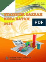 Statistik Daerah Kota Batam 2015