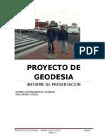 Proyecto de Geodesia