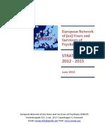 Enusp Strategic Plan 2012-2015