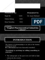 Sales Force Management In English Pharmaceutical Industries Lahre